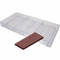 Плитка  с сегментами форма для шоколадных конфет, фото 1