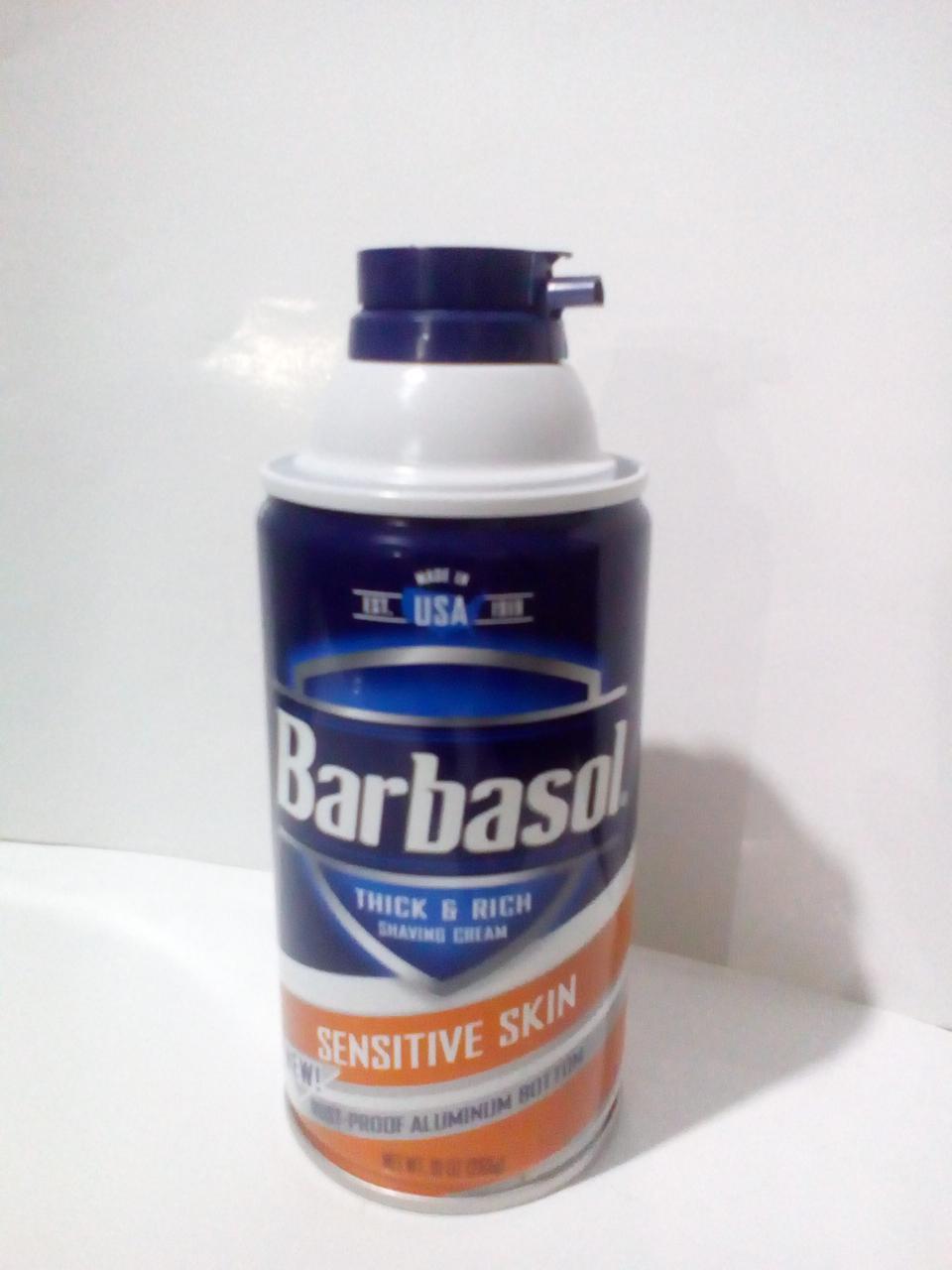 "Пена для бритья Barbasol ""Для нежной кожи "" 283 мл"