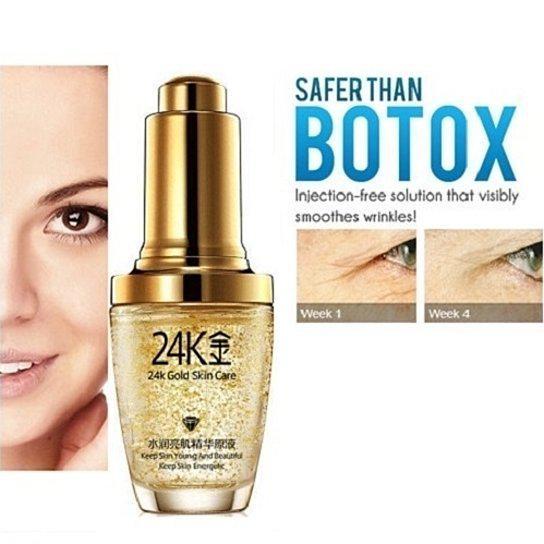 Гиалуроновая кислота Bioaqua 24k Gold Skin Care сыворотка с частичками золота 30ml