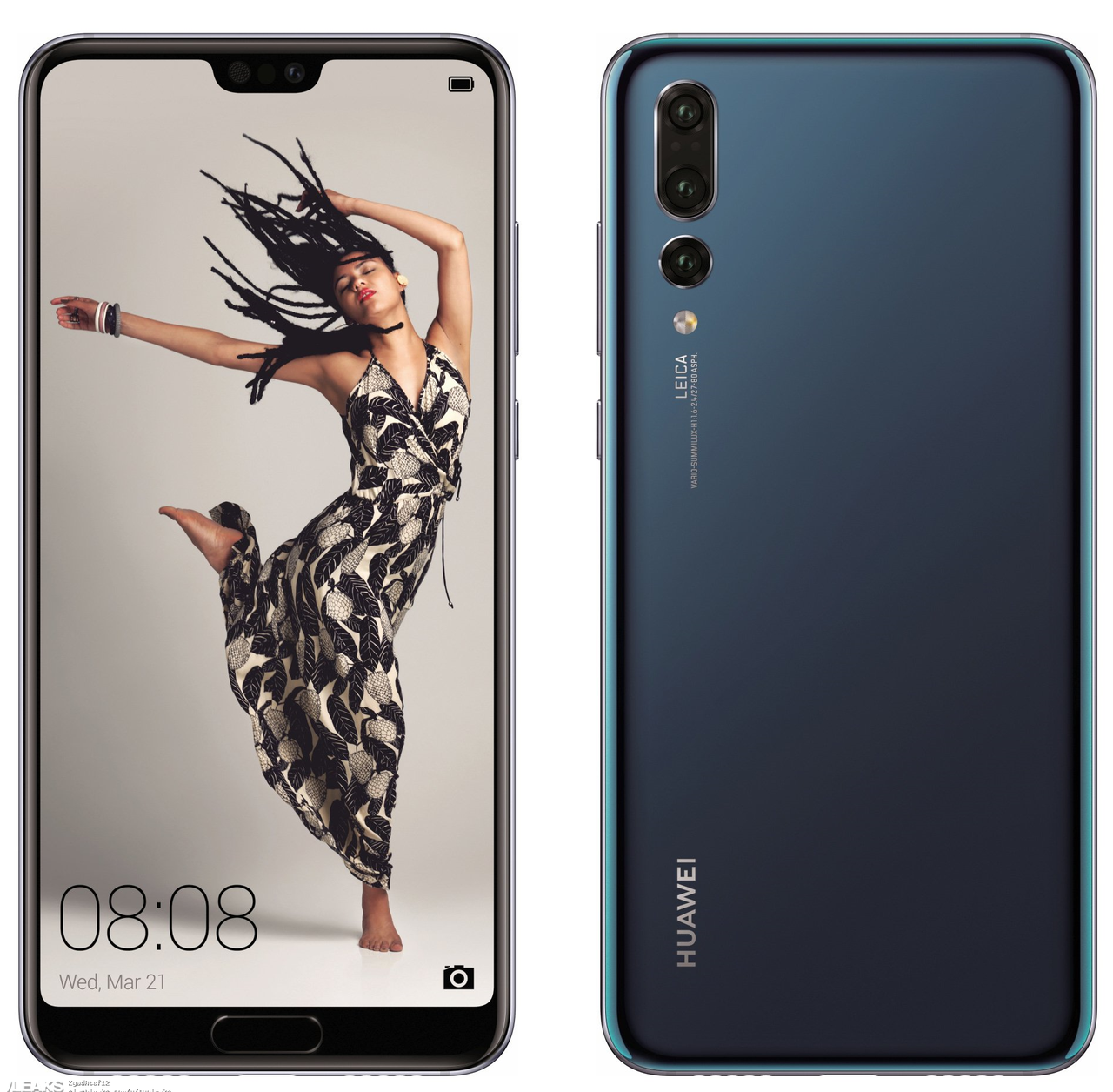 "Смартфон Huawei P20 Pro 6/128GB Blue, 40+20+8/24Мп, 6.1"" OLED, 2sim, 4000 мА*ч, Kirin 970, 8 ядер, 4G (LTE)"