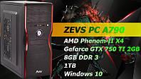 Крутой Игровой ПК ZEVS PC A790 +GTX 750TI 2GB +Клавиатура +Мышка!
