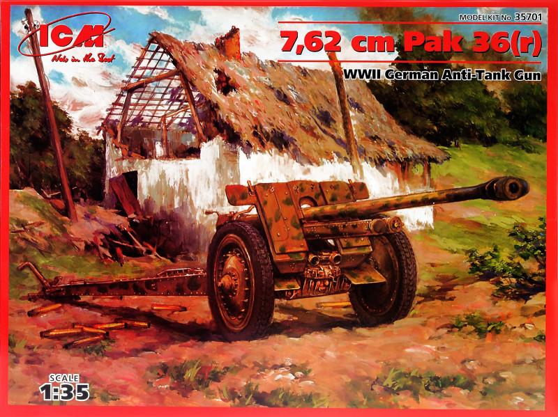 Немецкая противотанковая пушка 7,62 cm Pak 36 (r). 1/35 ICM 35701