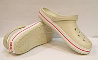 Сабо Crocs Crocband бежевого цвета, фото 1