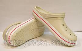 Сабо Crocs Crocband бежевого цвета