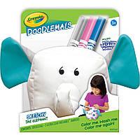 Игрушка для рисования Слон Doodlemals SCRIBBLES, в комплекте 3 фломастера Washable, Crayola (Крайола), фото 1
