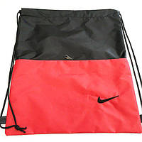 "Сумки рюкзаки для обуви ""затяжки"" Nike (2 отдел красный)38*43, фото 1"
