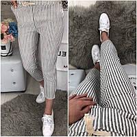 Женские стильные брюки в полоску 3 расцветки