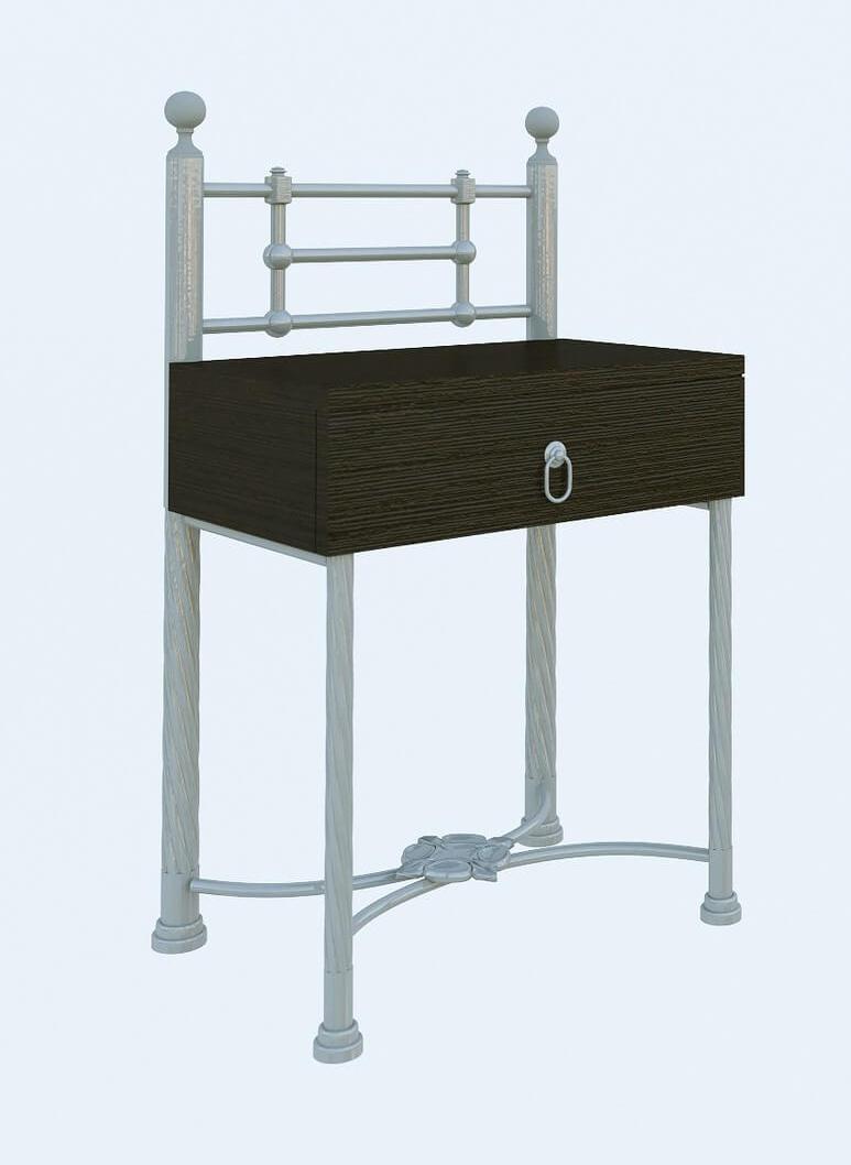 Прикроватная тумба Неаполь бежевая структура (Металл дизайн)