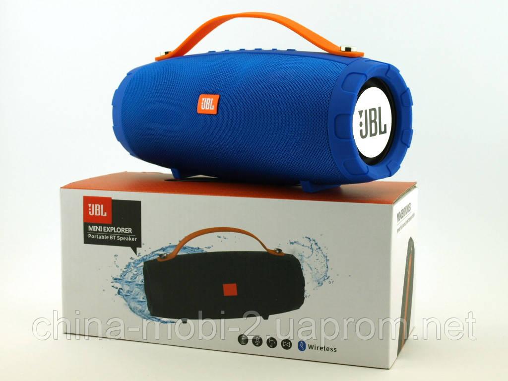 JBL mini Explorer CY-34 10W копия, портативная колонка с Bluetooth FM MP3, синяя