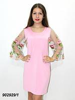 Нарядное платье сетка+вышивка 42 44,46,48, фото 1