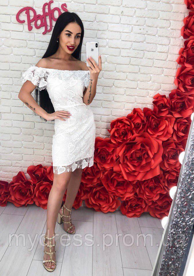 Элегантное гипюровое платье 742