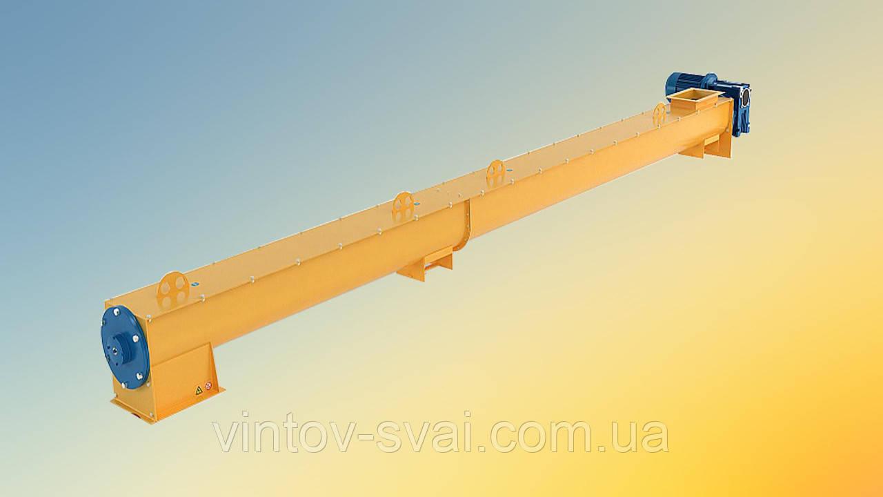 Шнек в лотку Ø 200 ММ довжиною 10000 мм