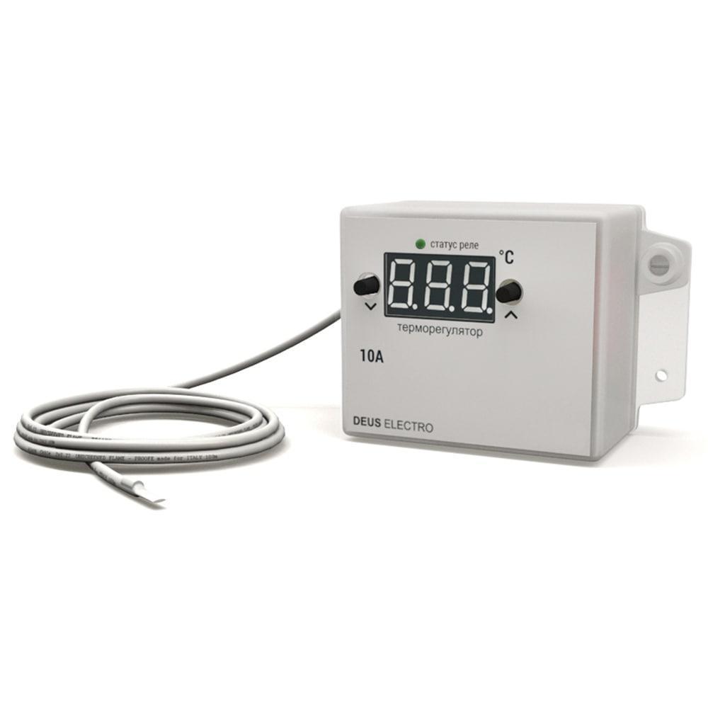 Терморегулятор, регулятор температуры цифровой для накладного монтажа ТР-10Н-220V (10А, 220В)