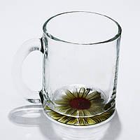 Стеклянная чайная кружка Аквариум цветы на 300 мл Gallery Glass  85002528