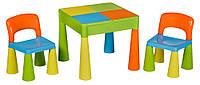 Стол и 2 стульчика Tega Mamut 899UN салатовый-голубой- оранжевый