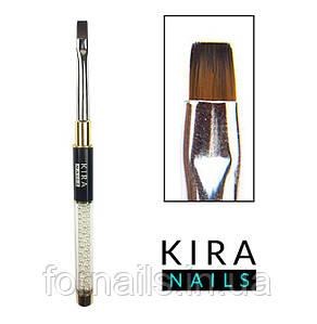 Кисть Kira Nails  Gel flat 4 (Nylon)