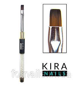 Кисть Kira Nails  Gel flat 6 (Nylon)
