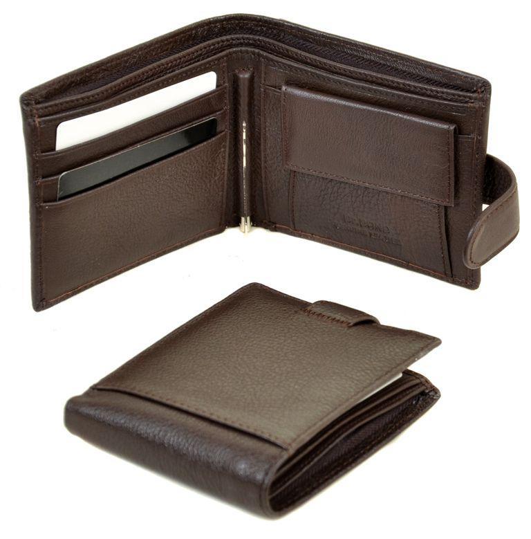 22ebb194b13f Мужской кошелек из натуральной кожи dr.Bond M13-1 coffee — только ...