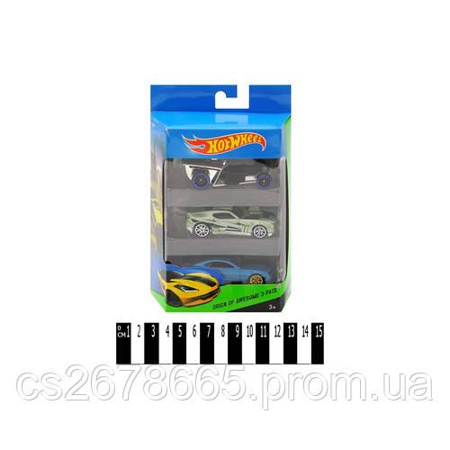 Набір машин HOT WHEEL метал-пластик (коробка 3 шт. ) Е757-3