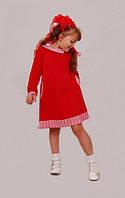 Платье  детское с длинным рукавом   М -942  рост 98  трикотажное