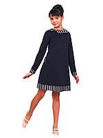 Платье  детское с длинным рукавом   М -942  рост 104 110 122 140 и 152 трикотажное Последний размер!, фото 1