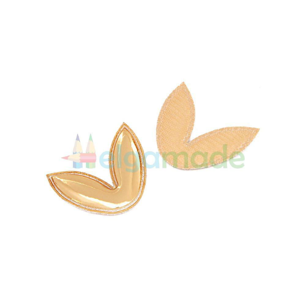 Патч с блестками УШКИ ЗОЛОТЫЕ, 3.6х3.2 см, 1 шт