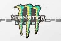 Наклейка   логотип   MONSTER ENERGY   (13х12см)   (#7312C) (N-1429)