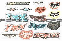 Наклейки (набор)   спонсор   FOX   (27х20см)   (#0037) (N-1520)