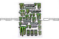 Наклейки (набор)   спонсор   MONSTER ENERGY   (30х45см)   (#5989J) (N-691)