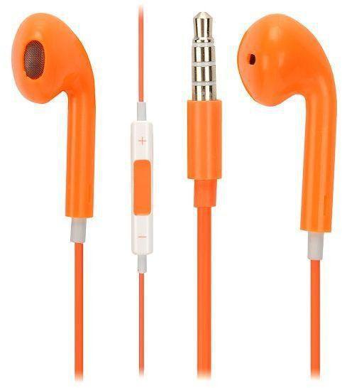 Наушники TOTO Earphone I5 + микрофон, ЦВЕТ оранжевый