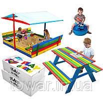 Песочница с накрытием+ Стол с двумя скамейками