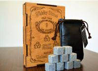 Камни для охлаждения виски IceStone 30033 в деревянной коробке 9 шт VIP упаковка