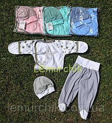 Комплект для новорожденного (распашонка+ползунки+шапочка) Звездопад 56р. белый