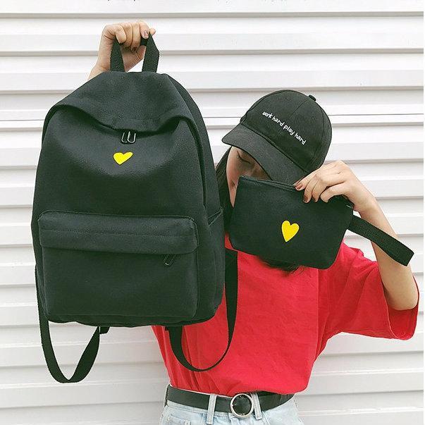 Молодежный рюкзак с пеналом Сердце