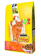 Пурина Фрискис 10 кг - корм для кошек с  курицей и овощами