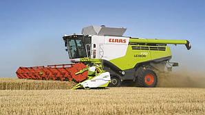 Уборка урожая зерновых пшеницы, ячменя, ... LEXION 760 TT + MaxFlex 1200 (12метров)