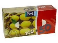 Bella. Носовые платочки универсальные, 2-х слойные, c ароматом лимона 150 шт. (420352)