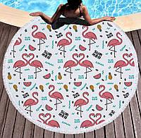 Пляжная подстилка - хит 2018 / пляжный коврик / парео Мандала Фламинго 150 см