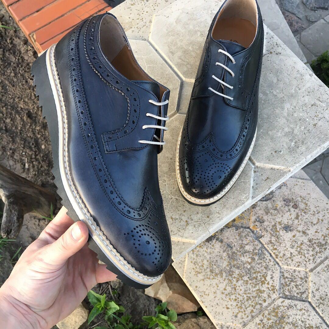 6d380647 Туфли мужские, кожаные броги на высокой подошве , made in Italy, (новые)