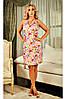 Літня сукня Наталі персикова, льон. S-3XL