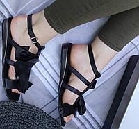 Шлепанцы женские - черные сандали Richesse, фото 1