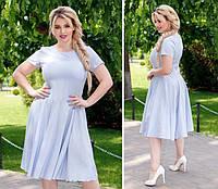Платье летнее, новинка 2018, модель 103/2 батал, цвет - светло сиреневый