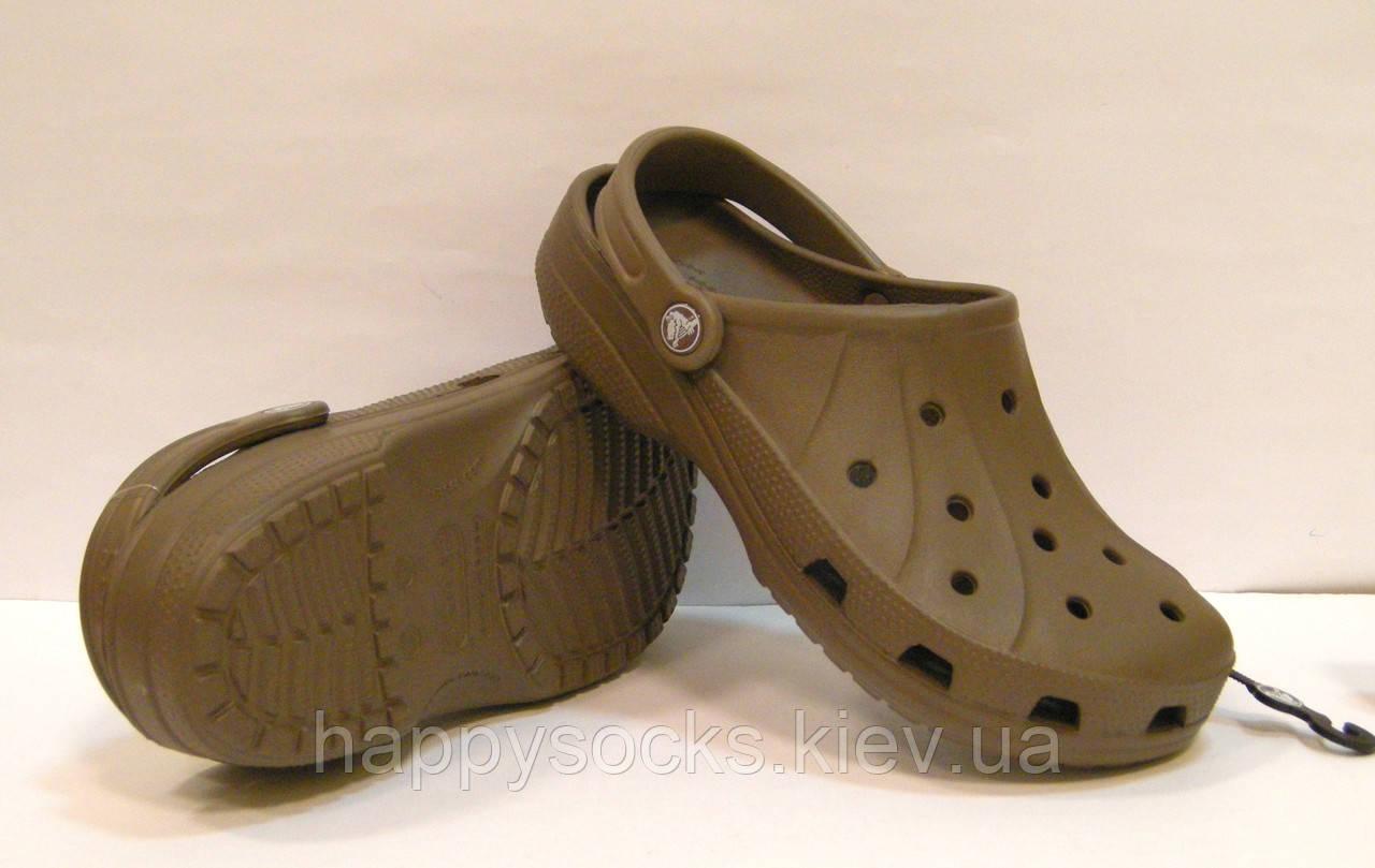 Шлепанцы Crocs Ralen Clog орехового цвета