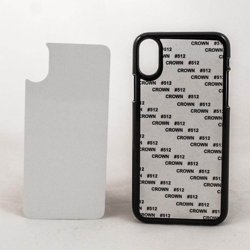Чехол для сублимации 2D iPhone X пластик (черный)