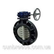 Поворотний дисковий клапан, з редуктором, PVC/PVC/EPDM DN300 (d.315 mm)