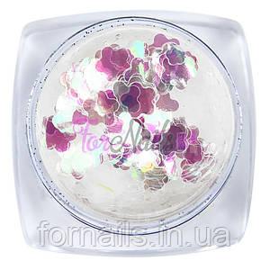 Радужный декор №004, цветы