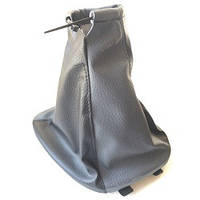 Чехол КПП с рамкой Lanos кожзам черный -серый BK\GY (комбинированный) Avtoban, фото 1
