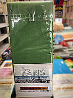 Простынь трикотажная на резинке  Bonjour Paris 160*200(+30), 2 нав. 70*70 см