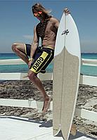 Длинные пляжные шорты с принтом Guru 3649 B 50(L) Синий Guru 3649 B