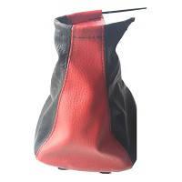 Чехол КПП с рамкой Lanos кожзам черный - красный BK\RD (комбинированный) Avtoban, фото 1